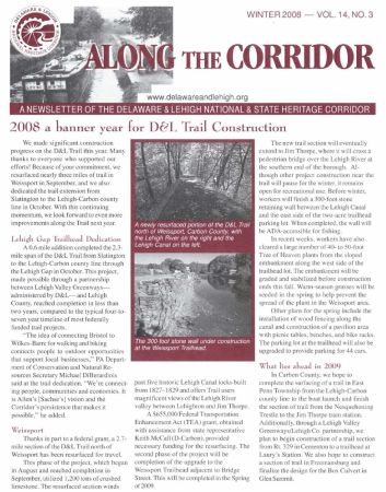Get the Winter 2008 issue of Along the Corridor today!