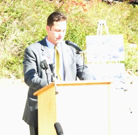 Bethlehem Mayor John Callahan speaks at historic Stock House