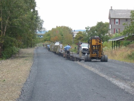 A new fence will separate the D&L Trail from a parallel access road