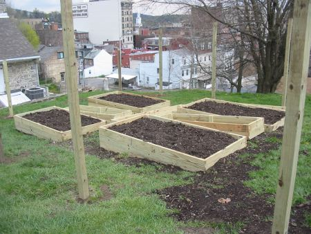 A new community garden at Fifth and Ferry Street in Easton.