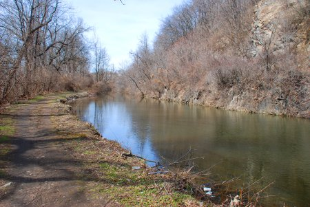 A watered portion of the Lehigh Canal between Freemansburg and Bethlehem (D&L)