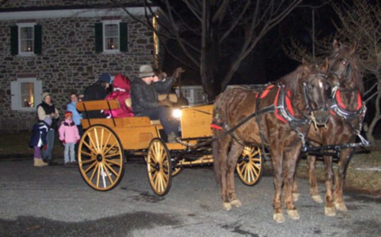A sleigh ride is one of many activities you can enjoy at Emmaus' SnowBlast.