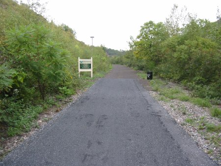 The improved trail surface extends to the existing section of D&L Trail in Lehigh Gap
