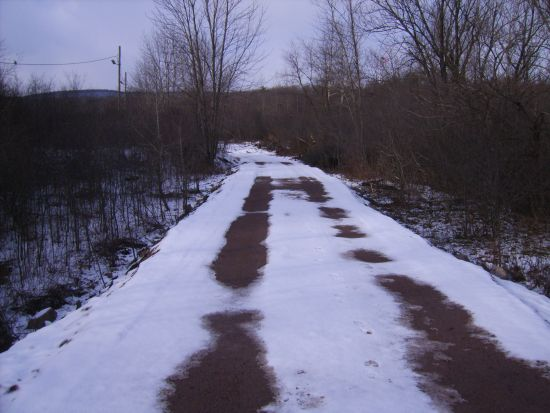 Snow and cold weather have slowed most D&L trail projects.