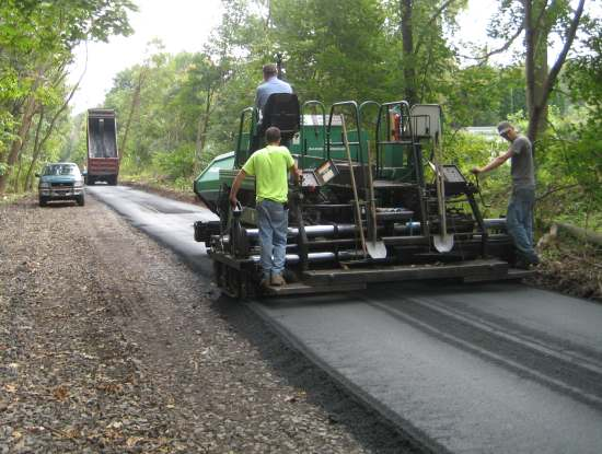 D&L Trail surfacing continues near Laurys Station, Lehigh County.