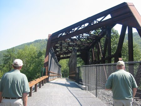 On some sections, the D&L Trail benefits from railroad infrastructure
