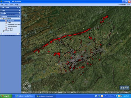 This sample GIS includes all of Lehigh and Northampton counties' parks.