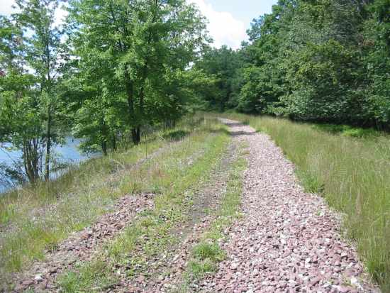 Future section of trail along Moosehead Lake