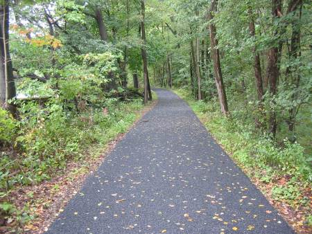 A resurfaced section of the D&L Trail in Weissport